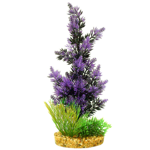 CB-2010-BK-PP - ColorBurst Florals® Gravel Base Plant - Pacifica Plant - Black/Purple