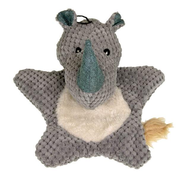 DTP-112-GY - Plushables® Natra Buddies® - Happy Rhino - Grey