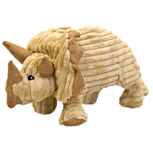 DTP-123-BG - Plushables® Natra Buddies® Triceratops - Beige