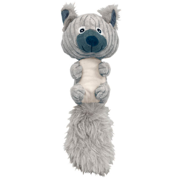 DTP-128-GY - Plushables® Natra Buddies® - Fuzzy Tail Squirrel - Grey