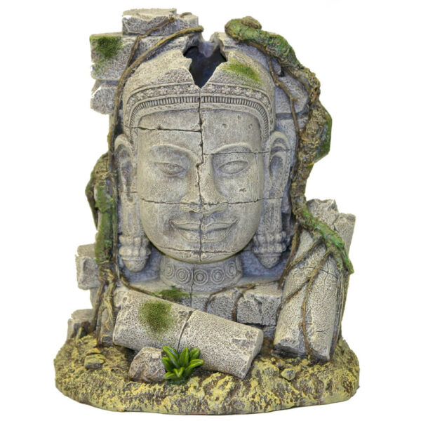 EE-542 - Exotic Environments® Ancient stone head ruin bubbler w/airline connector