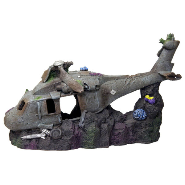 """EE-897 - Exotic Environments® Large sized Sunken Helicopter 12"""""""
